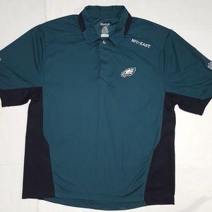 NFL Reebok Eagles Polo Shirt Like New